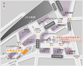 桜橋渡辺病院 地図